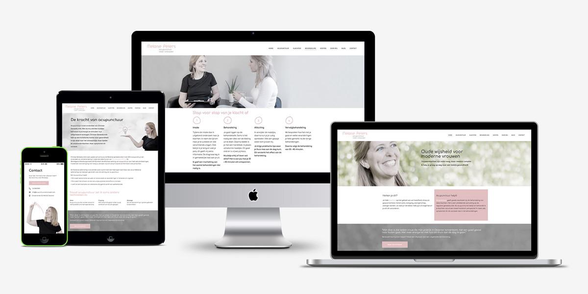 Creatief Reclamebureau Maakmeesters - Arnhem - Acupunctuur voor vrouwen - website