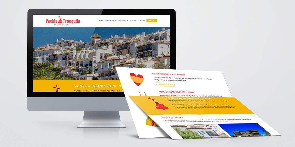 Creatief Reclamebureau Maakmeesters - Arnhem - Puebla Tranquila - Website